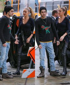 February 7: #Gigihadid and #zaynmalik out and about in Los Angeles