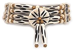 Spotted bone choker necklace, native american style boho chic.