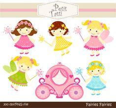 baby clip art  fairy clip art  baby girls clip art  by petittatti, $5.00