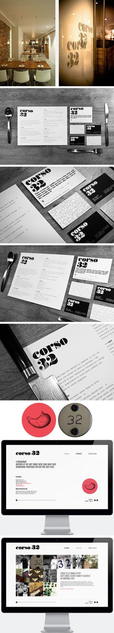 Corso 32 Restaurant identity by WeAreAllConnect