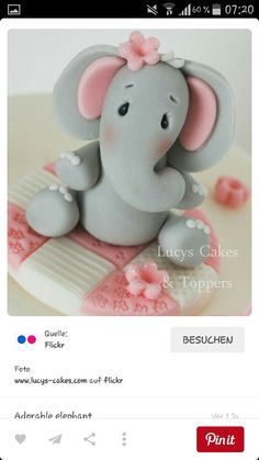 Cute fondant elephant
