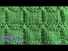 TEJIDOS A DOS AGUJAS: 64- Cuadros Entrelazados/ KNITTING WITH TWO NEEDLESS: Interlaced Squares - YouTube Knitting Stitches, Knitting Patterns, Baby Vest, Purses And Bags, Diy Crafts, Blanket, Waffles, Crochet Baby Clothes, Knit Patterns