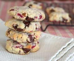 Low carb Cranberry Walnut Chocolate Chip Cookies