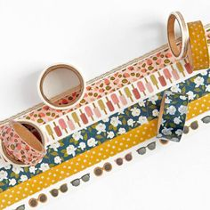 Get ready to decorate everything you own with this fun washi tape set! Six summer-themed designs feature popsicles, strawberries, sunglasses, and flowers. Great for DIY cards, scrapbooks and other crafty projects. Organization Station, Washi Tape Set, Paper Source, American Crafts, Crafty Projects, Diy Cards, Coin Purse, Pattern, Summer