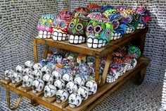 Mexican Day of the Dead Papier Mache skulls