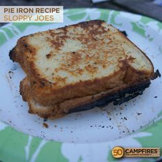 Pie Iron Sloppy Joes - these are so easy and delicious! #camping #pieiron