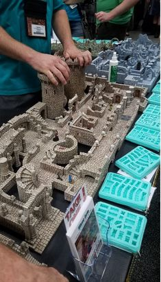Castle Layout, Model Castle, Dungeons And Dragons Miniatures, Hirst Arts, Christmas Nativity Scene, Minecraft Projects, Satyr, Art Station, Miniature Crafts