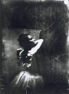 Photo by Edgar Degas - Dancer Adjusting Her Shoulder Strap (1895-6).   Bibliothèque nationale de France, Paris. ☚