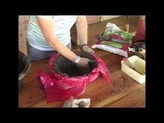 The Gardener Magazine: Making Concrete Garden Pots - YouTube