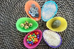 Baby-Safe sensory shaker eggs for Baby's First Easter basket! #baby #sensory
