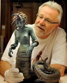 Tony Dalton with Ray Harryhausen's Medusa