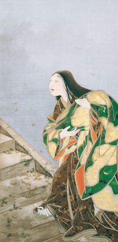 Japan, hanging scroll by Hashimoto Gahō, Miidera, 1894