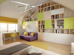 bedroom decorating ideas - I want a wall like this in my dream house.