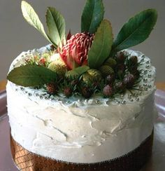 Turkish fig and brandy chocolate Christmas cake with Morello-cherry ganache and swiss meringue frosting