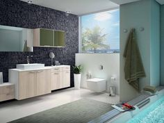 Inspire-se com projetos modernos para o seu banheiro. Espaços amplos permitem decoração elaborada e cheia de detalhes!