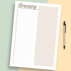 This collection of Food Journals Printable Templates is strict and simple in design. Ensure maximum productivity and time management by having a planner. Here's a fun way to stay organized and get things done! Weekly Meal Plan Template, Meal Planner Template, Weekly Meal Planner, List Template, Food Journal Printable, Printable Planner, Printables, Printable Templates, Printable Shopping List