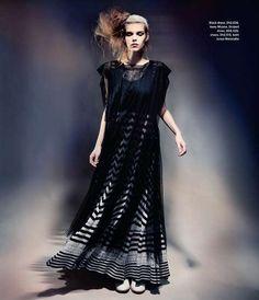 The M Magazine Spread Features Shapeless Dark Silhouettes #fashion trendhunter.com