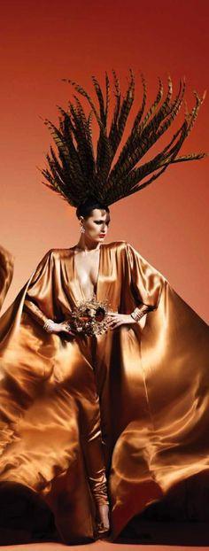 Stephane Rolland / butterscotch silk