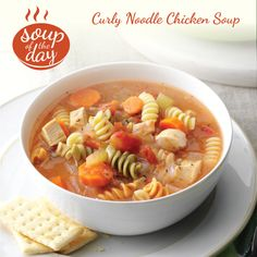 Curly Chicken Noodle Soup Recipe from Taste of Home -- shared by Maxine Pierson of San Ramon, California