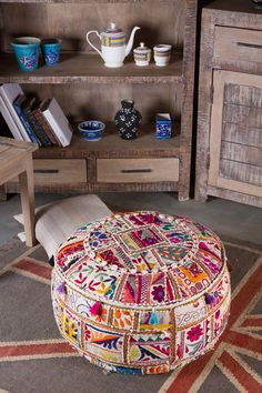 1000 Images About Ottoman Pouffs Footstool On Pinterest