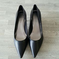 Pointy Toe Comfy Low Heels Wore these once for an interview. In excellent condition! Shoes Sandals