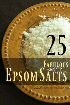 25 Fabulous Epsom Salt Uses   PreparednessMama Herbal Remedies, Home Remedies, Natural Remedies, Holistic Remedies, Health Remedies, Epsom Salt Uses, Magnesium Sulfate, Natural Cleaning Products, Natural Products