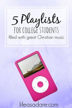 These 5 great playlists are filled with Christian music and are perfect for college students! Loving these songs!