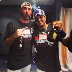 Justin Verlander and Victor Martinez Detroit Rock City, Detroit Sports, Detroit Tigers Baseball, Sports Teams, Tiger Team, Justin Verlander, Tiger Love, Sports Fanatics, Michigan Wolverines