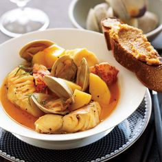 This classic Provençal seafood stew is loaded with clams, lobster and fish in a broth delicately flavored with fennel and pastis, a licorice-flavored...