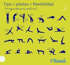 Pilates - Tabla de ejercicios  #RevistaLHuma | www.lhuma.com