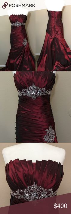 💜 Black Evening Prom Dress Size 7/8 Scene NWT | D, Black tie and Tulle