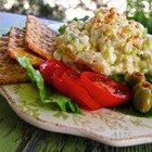 Creamy Cauliflower Egg Salad - A creamy salad made with cauliflower, celery, and hard-cooked eggs looks and tastes like potato salad.