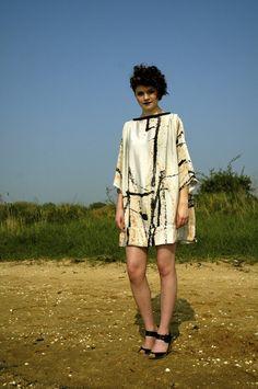 Callisto Glitter Pleat Docks Dress in Silk Crepe De Chine