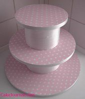 make your own cake stand to match your party decor!