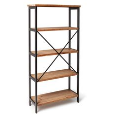 Perth 5-Shelf Industrial Bookcase by Christopher Knight Home   Overstock.com Shopping - The Best Deals on Media/Bookshelves