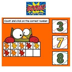 BOOM Autumn activities.  BOOM Counting activities.  BOOM Kinder decks.  BOOM Preschool activities.  #boomkinder #boompreschool #boomcounting #kindermath