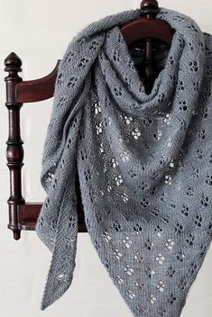 Ravelry: Quatrefoil shawl in The Uncommon Thread Heavenly Fingering - knitting pattern by Woolenberry.