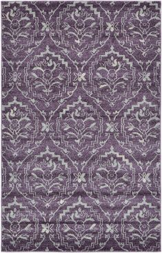 Purple x Damask Rug Damask Rug, Shed Colours, Purple Area Rugs, Bedroom Flooring, Acanthus, Different Textures, Power Loom, Modern Rugs, 5 S