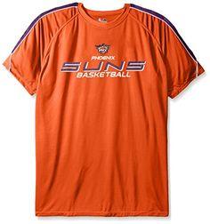NBA Phoenix Suns Mens Short Sleeved Birdseye Crew TShirt with Shoulder  Piecing 4XTall Dark Orange - 6e72686ca