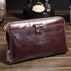 Men Real Leather Business Day Clutch Handbag Multi Function Large Wallet  #Unbranded #MilitaryTacticalWallets
