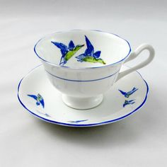 Royal Albert Wild Birds Tea Cup and Saucer with