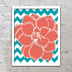 Coral Colored Wall Decor turquoise coral wall art, canvas or prints nursery girl bedroom