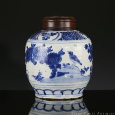 16th c LATE MING WANLI BLUE AND WHITE PORCELAIN JAR AND LID More At FOSTERGINGER @ Pinterest