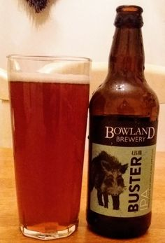 """Buster IPA from Bowland Brewery. Smooth and balanced but lacking """"character"""". British Beer, Beers Of The World, Malted Barley, Natural Preservatives, Message In A Bottle, Pints, Beer Label, Wine And Beer, Beer Brewing"""