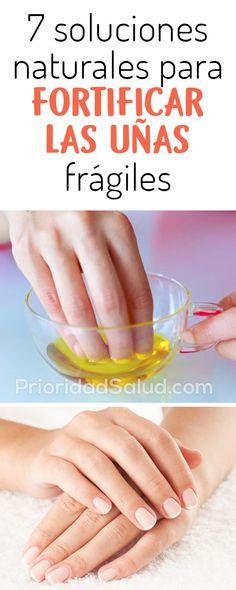 Remedios caseros para las uñas quebradizas, fragiles #uñas