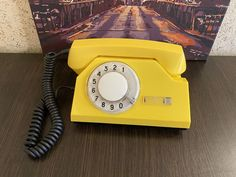 Rare Vintage yellow phone, Old rotary phone, Soviet phone, Circle dial rotary phone, Vintage phone, Old Dial Desk Phone, Yellow phone, USSR Pay Attention To Me, Retro Phone, Vintage Phones, Vintage Yellow, Rotary, Landline Phone, Telephone, Desk, Running
