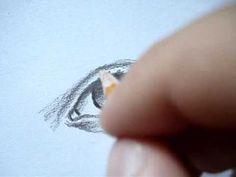 Hoe teken je ogen, neus en mond.