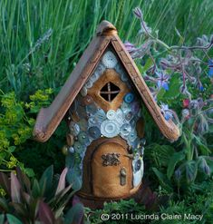 Special order for Dina---Heirloom Button Fairy House & Tooth Fairy Kit. $76.00, via Etsy.