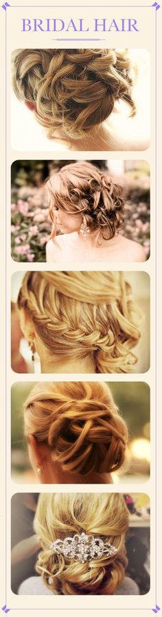 few different bridal hairstyles