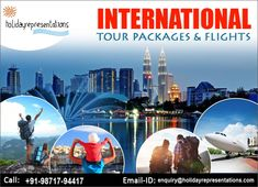 Looking for International tour packages? Choose your international holidays by interests like wildlife, adventure, beach & more. Avail great discounts at HolidayRepresentations!